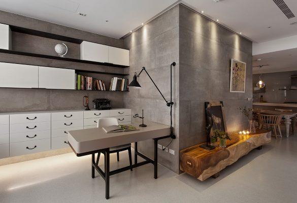 Concrete-Walls-in-Modern-Office