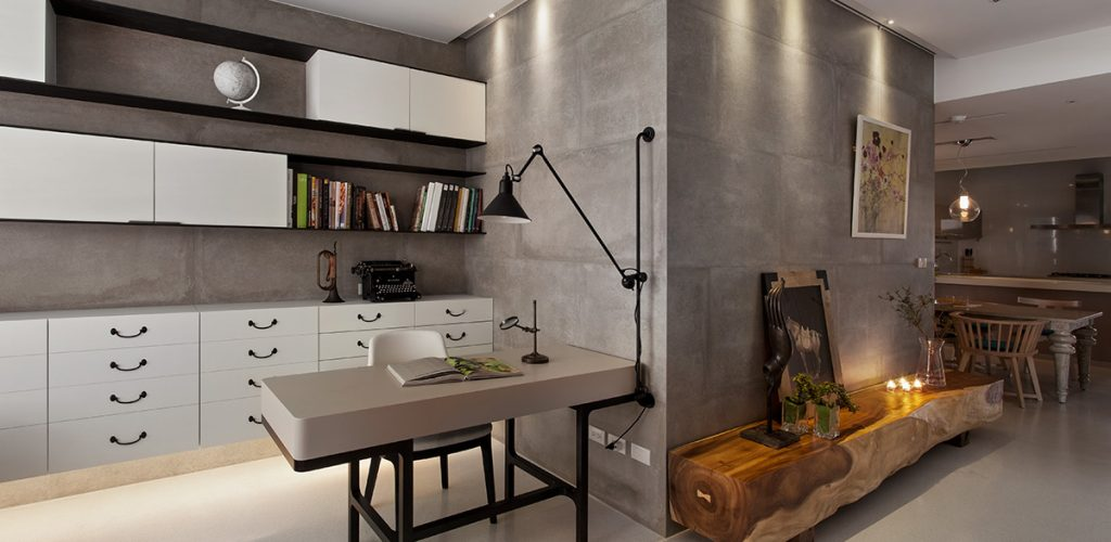 Concrete-Walls-in-Modern-Office
