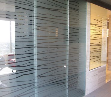 Fasara Patterned on Office Windows