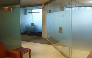 Fasara Vinyl on Office Glass